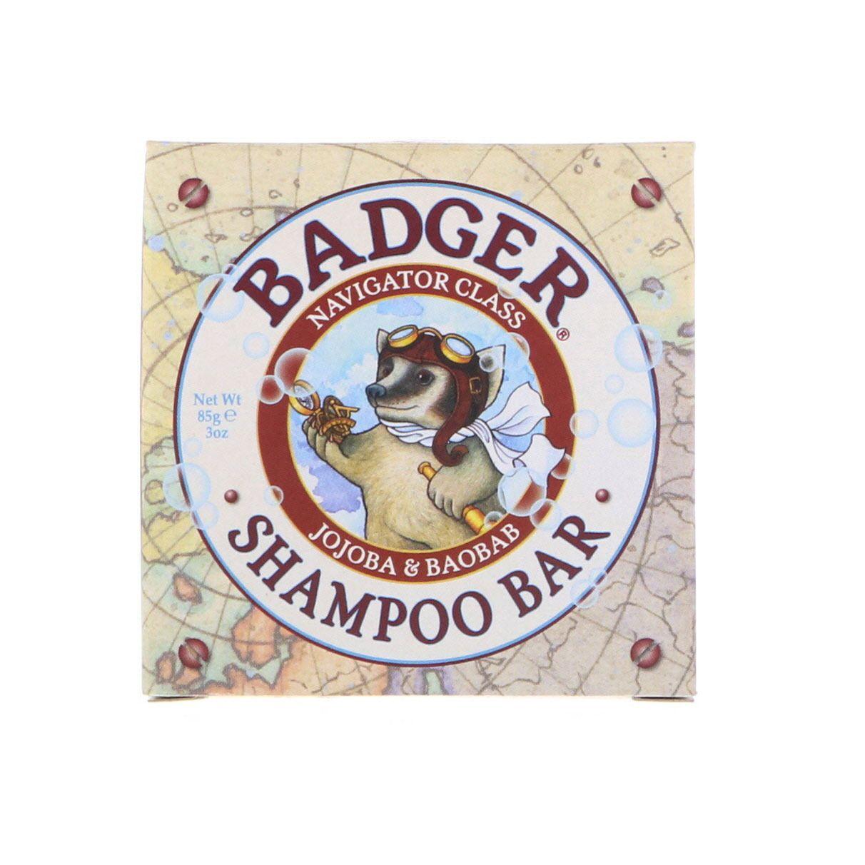 Badger Company Shampoo Bar Jojoba Baobab 3 Oz 85 G