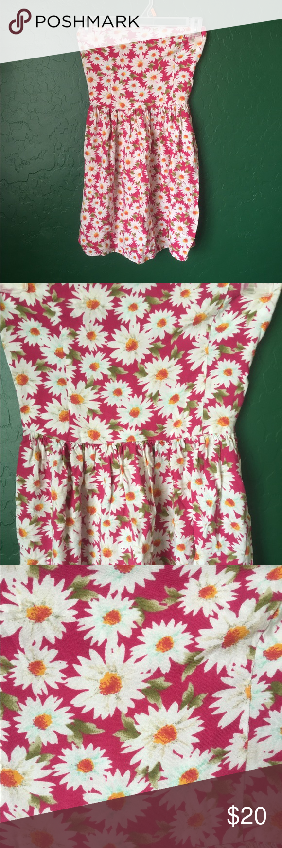 d8299cbc51 Hollister dress Pink floral patterned sleeveless tube top style minidress.  Gently worn
