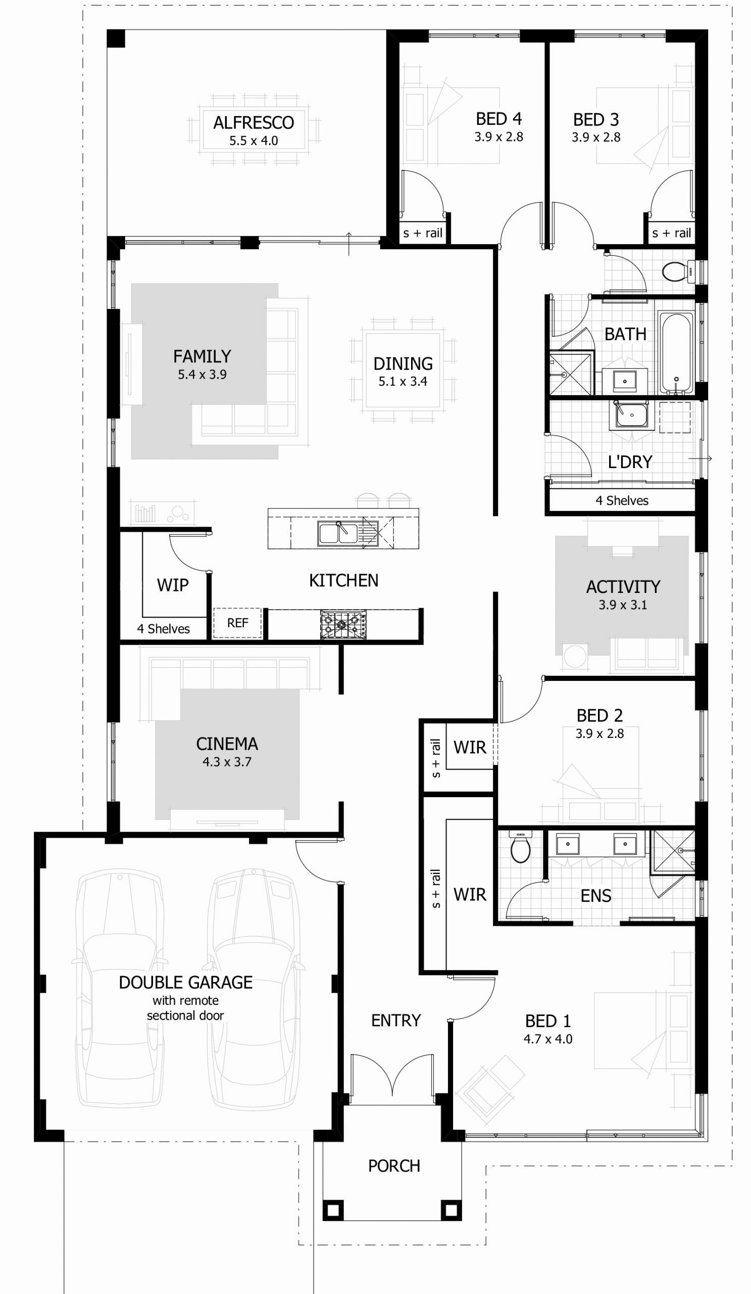 Simple Four Bedroom House Plans Luxury Brilliant Four Bedroom House Plan Simple Idea Modern In 2020 Castle House Plans Four Bedroom House Plans 4 Bedroom House Plans