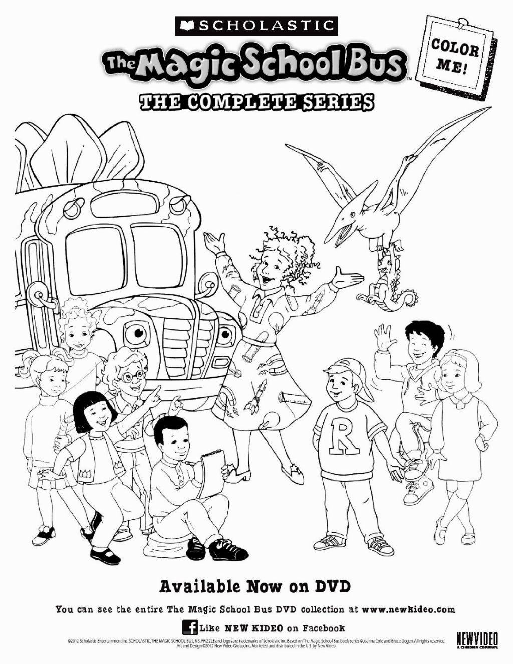 Magic School Bus Coloring Page Magic School Bus Coloring Pages Printable Coloring Pages