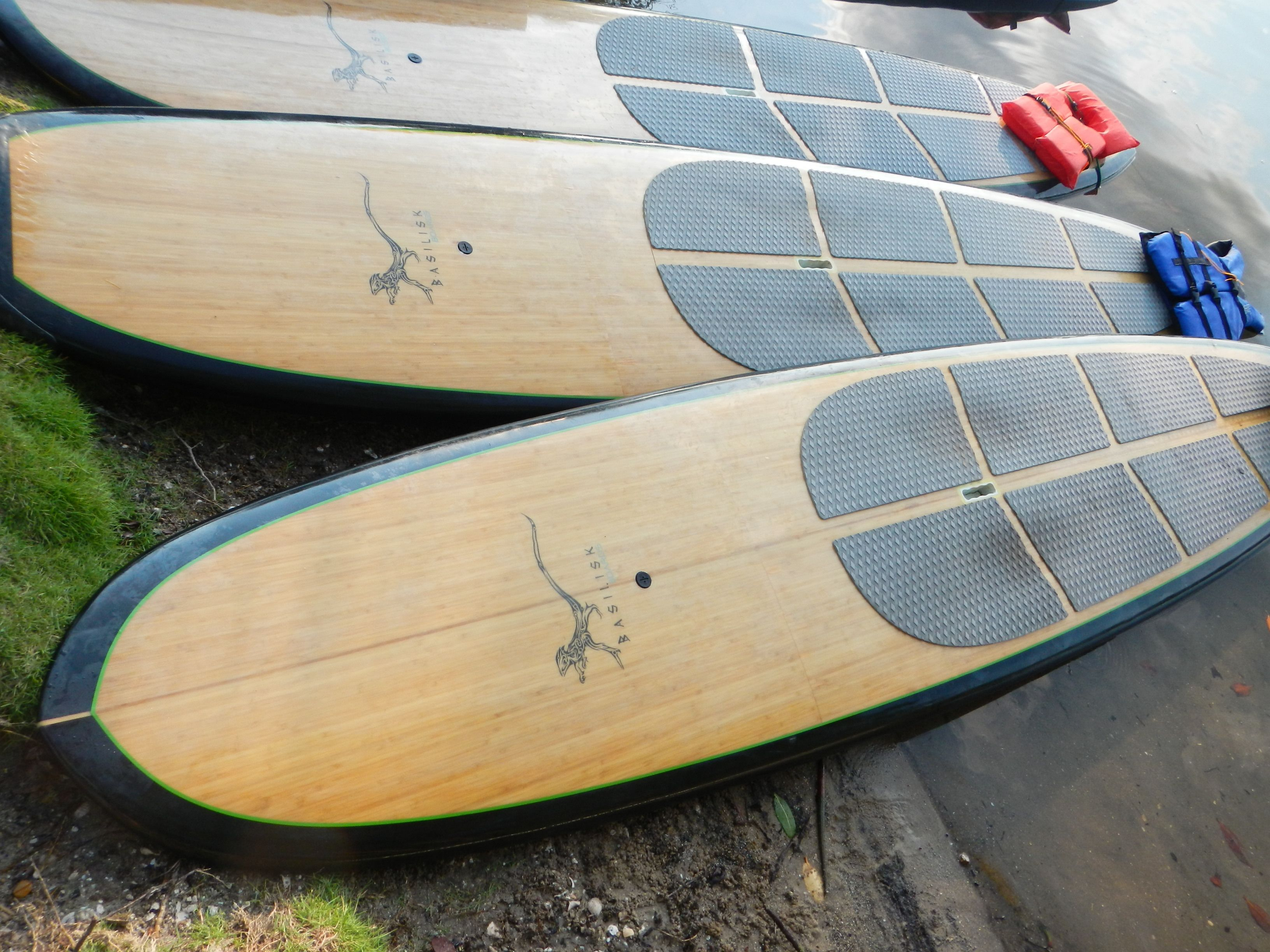 Deppen custom wood canoe paddles - Basilisk Boards Bamboo Stand Up Paddle Boards Getting Ready For A Day On The Water