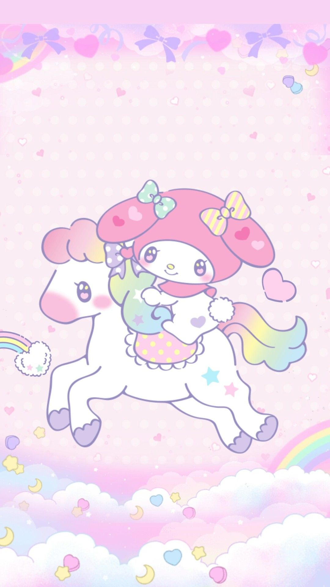 Cute Heart Images For Wallpaper Heymi243 My Melody Unicorn Wallpaper By Me Sanrio