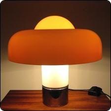 Charmant Brumbury 4009 Desk Lamp By Luigi Massoni For Guzzini   Lampe Champignon  Design Vintage Années 70