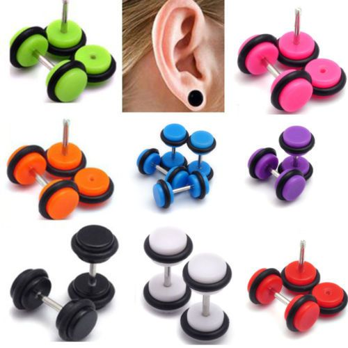 2PCS about fashion acrylic fake cheater ear plugs gauge body jewelry Pierceing details of the new hot spot $1,32 (free shipping) Colour: