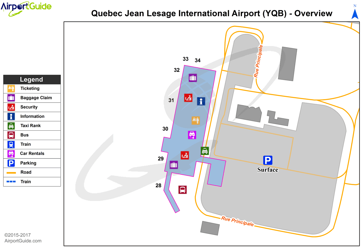 Quebec Quebec Jean Lesage International Yqb Airport Terminal Map Overview Airport Guide International Airport Airport