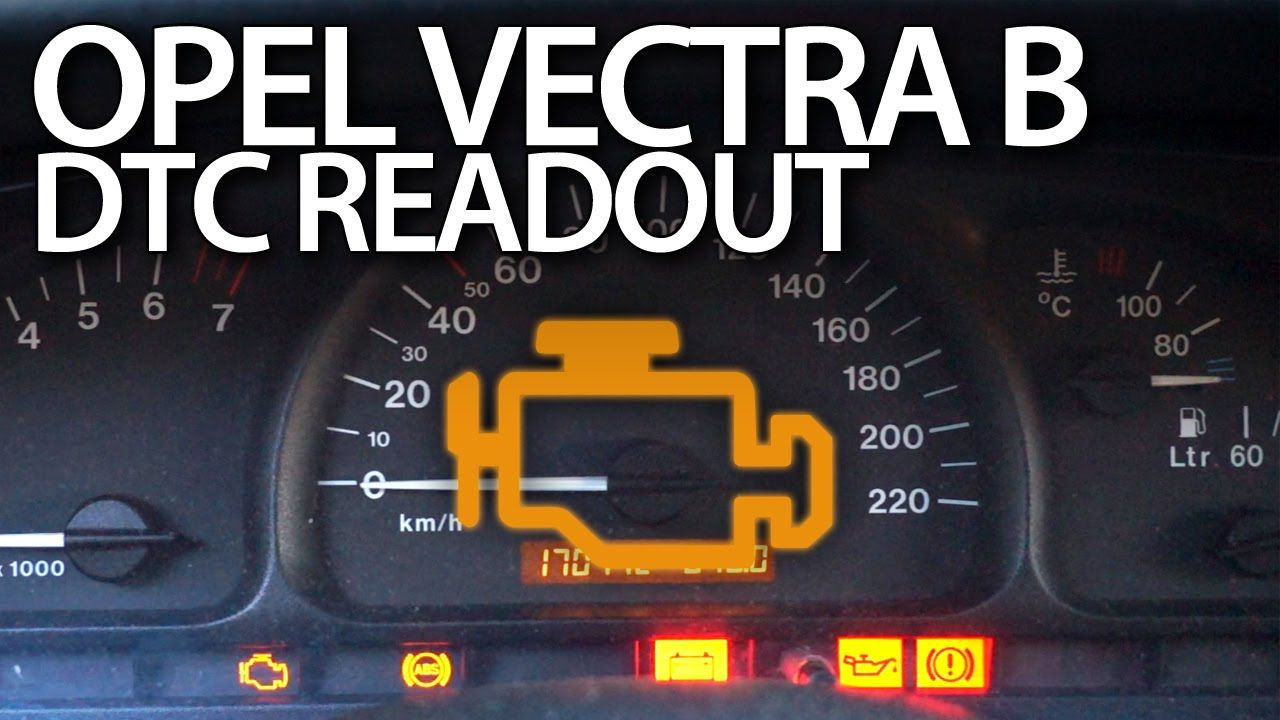 Opel #Vectra B read #DTC error codes (Vauxhall diagnostic mode