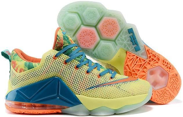 quality design 52aed 1d200 Lebron 12 Low Yellow Orange Blue   Lebron 12 Low for sale ...