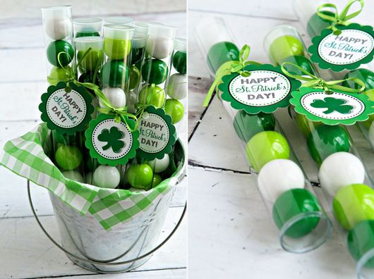 St. Patrick's Day Gumball Tubes