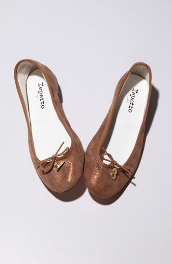98f1d0b4dccd Repetto 'Cendrillon' Metallic Goatskin Suede Ballet Flat available at  #Nordstrom