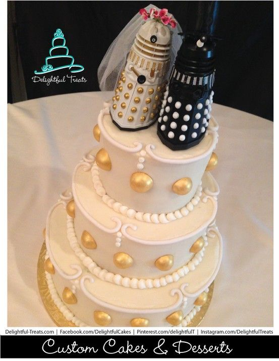 Going To Buy Dalek Figures And Repaint Them For Wedding Cake Toppers