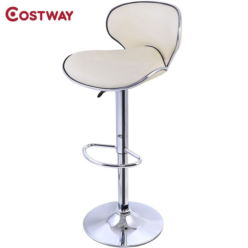 Fabulous Costway Pu Leather Modern Adjustable Bar Stool Swivel Chair Pdpeps Interior Chair Design Pdpepsorg