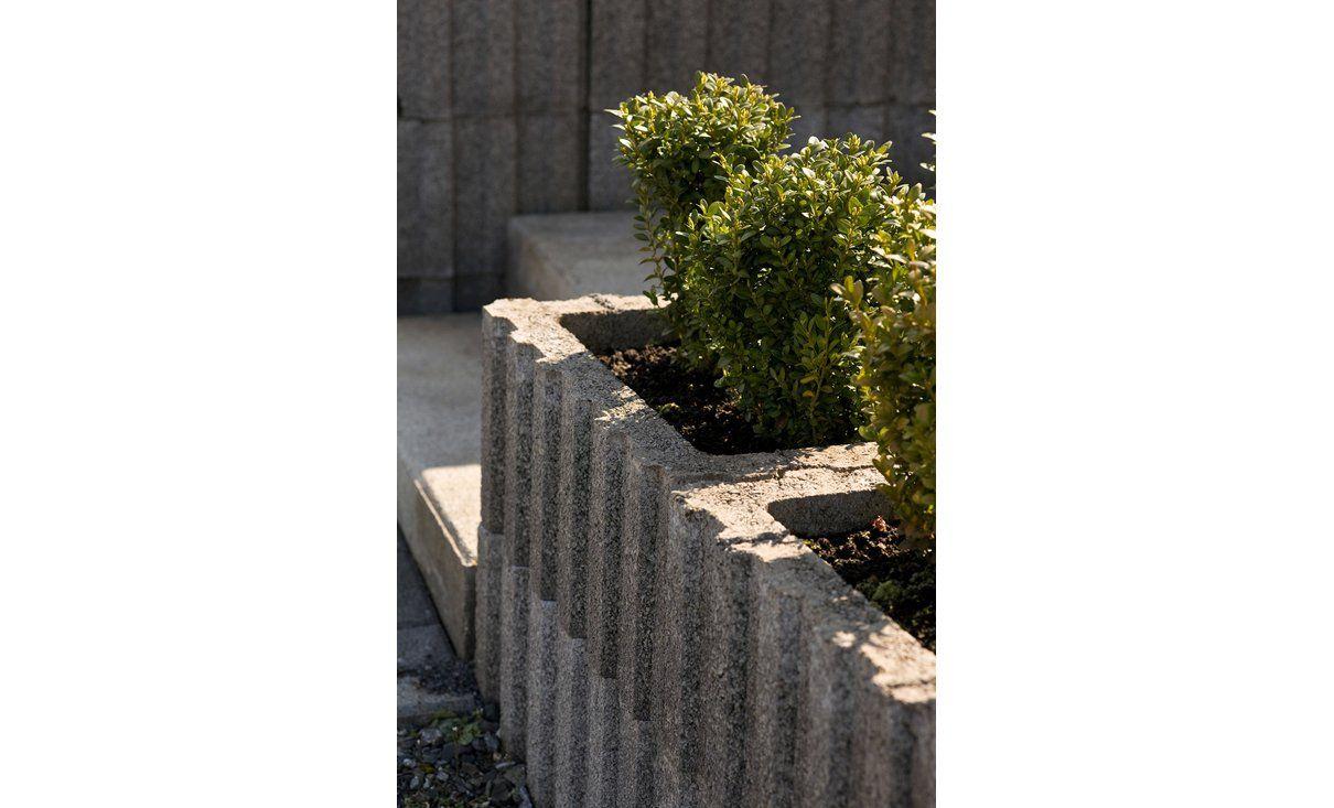 ratioflor pflanzstein grau 60 cm x 40 cm x 25 cm | ideen rund ums