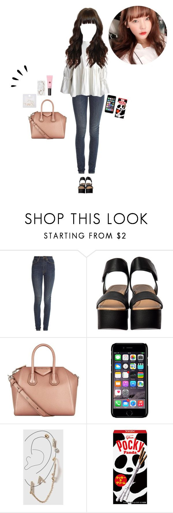 """""""— Meirin: BBQ with Payne"""" by trinity-official ❤ liked on Polyvore featuring Yves Saint Laurent, Givenchy, Old Navy, Off-White, Topshop and StyleNanda"""