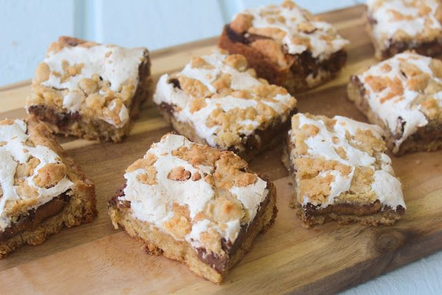 Spoonful of Flour: Peanut Butter Cup S'mores Bars