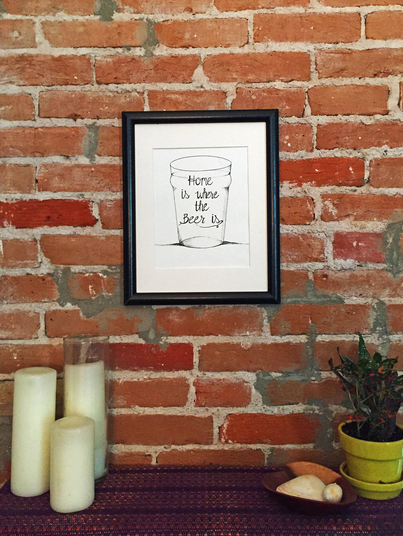 Instant Digital Download, Beer Lovers Wall Art Print, Craft Beer