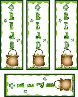 St. Patrick's Day Bookmarks | Family Shopping Bag. Click for more FREE #StPatrick bookmark printables!