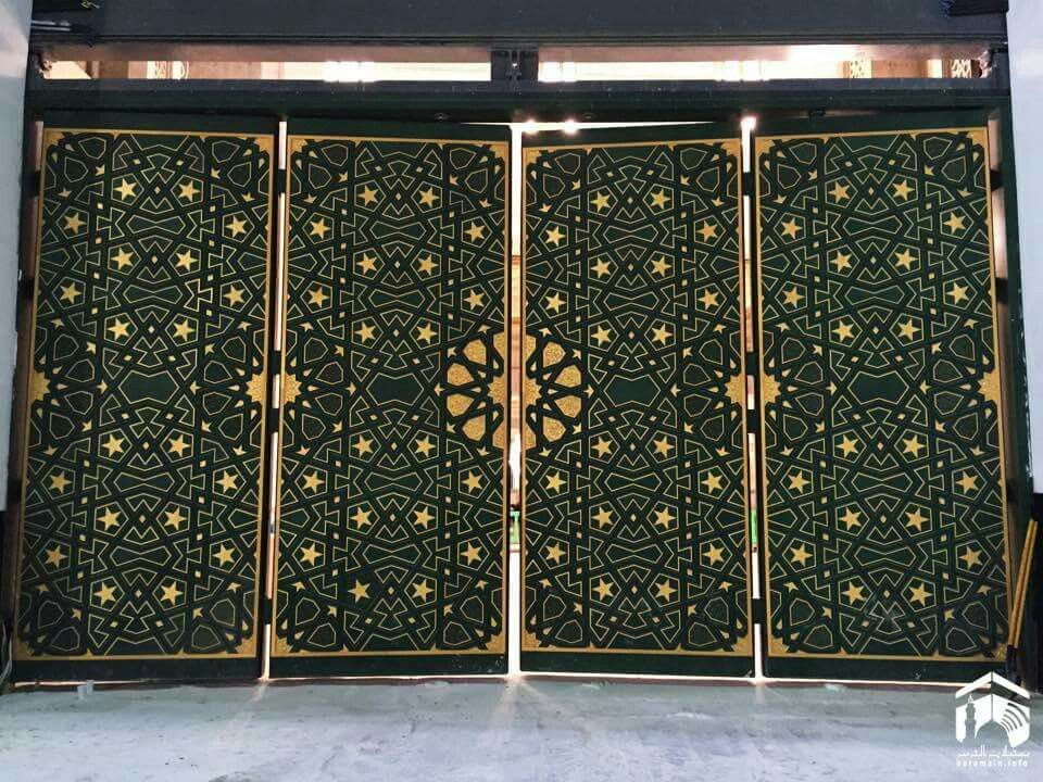 Beautiful  doors  of masjid al Haram  in the king Abdullah expansion  # Mecca