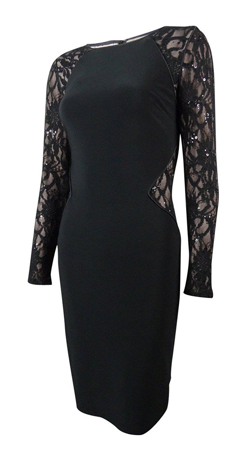 812f67e5 Lauren Ralph Lauren Women's Sequined Lace Inset Jersey Dress ** See this  awesome image : Dresses for Christmas