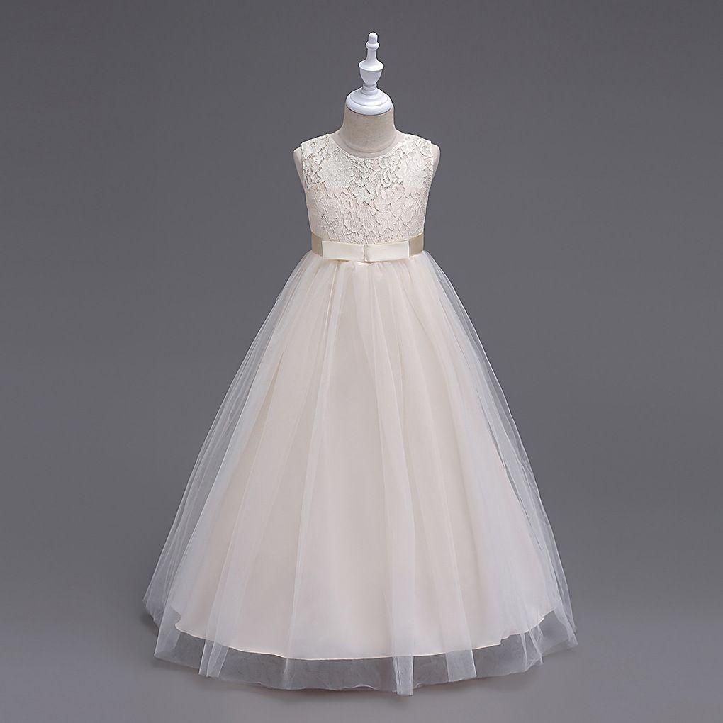 Children Bridesmaid Long Kid Evening Dress Girl Party Long Dresses