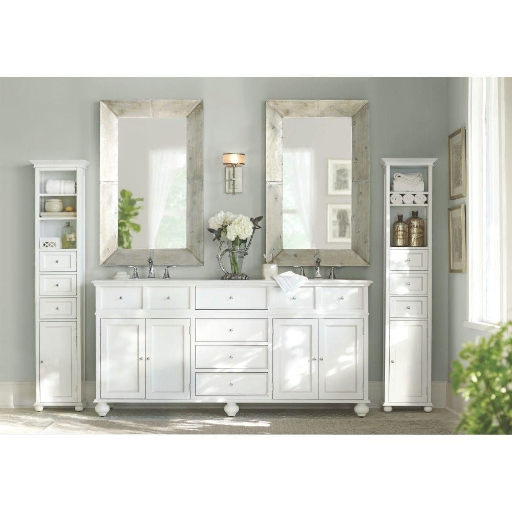 Home Decorators Collection Hampton Bay 22 In. W Linen Cabinet In  White 3987020410