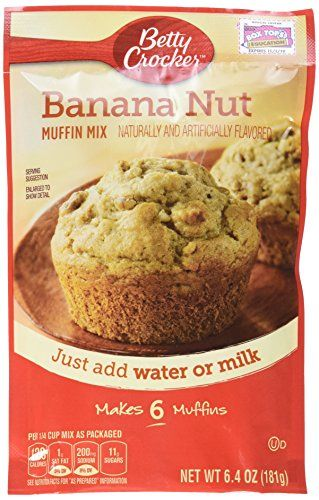 Betty Crocker Banana Nut Muffin Mix  64 oz * Want to know more, click on the image.(This is an Amazon affiliate link and I receive a commission for the sales)