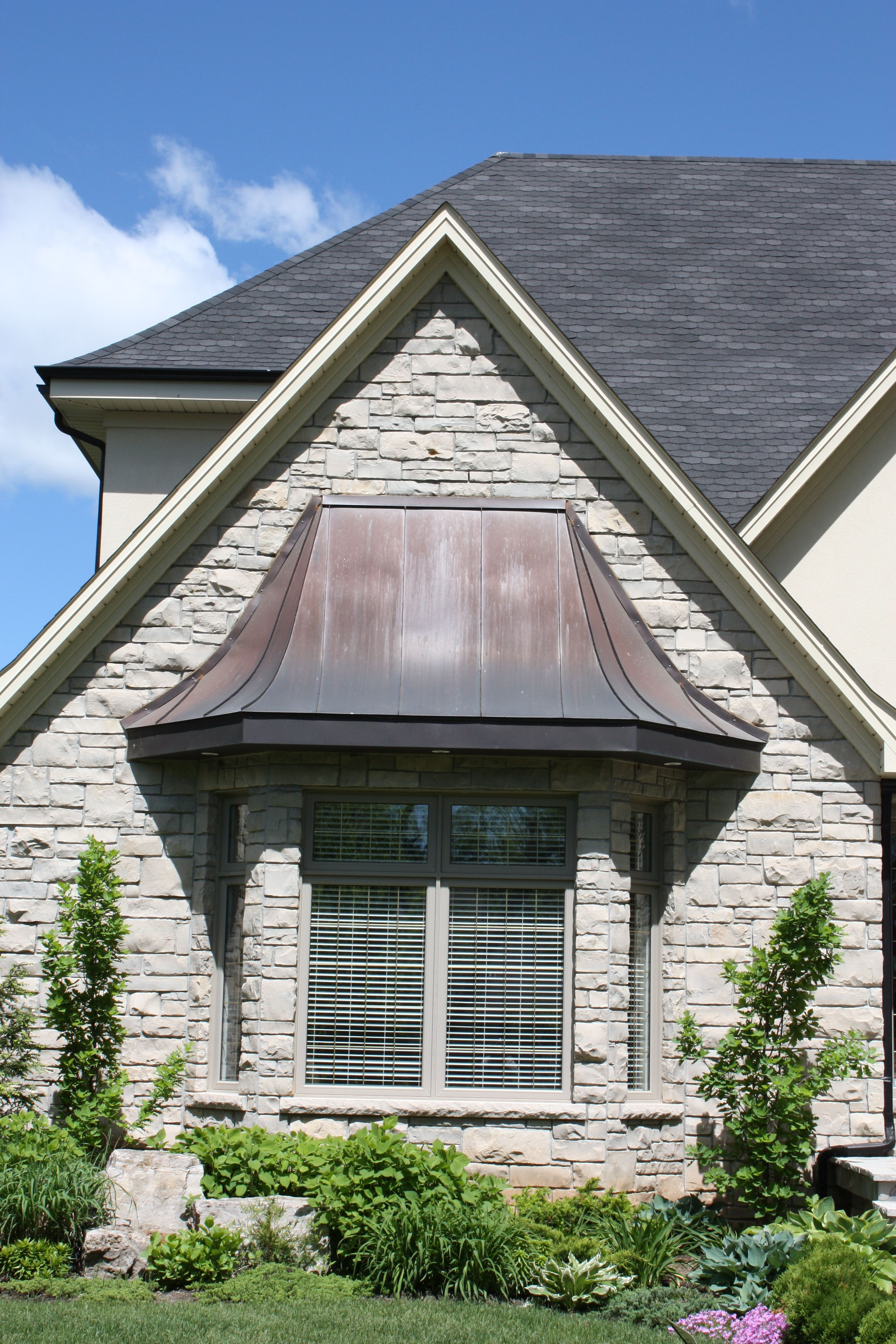 Exterior bay windows - Copper Roofing Over Bay Windows Copper Roofing Upper Canada Cedar Roof
