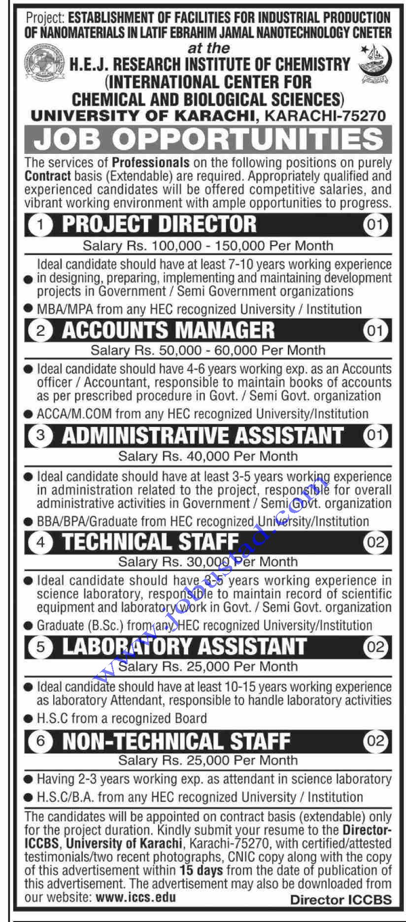 University of Karachi Jobs 2020 in 2020 (With images
