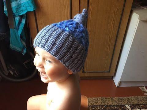 Как связать детскую шапку с орнаментом 96