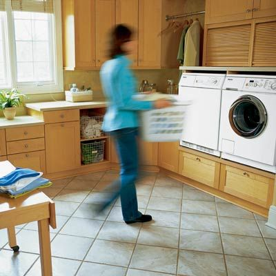 laundry rooms....