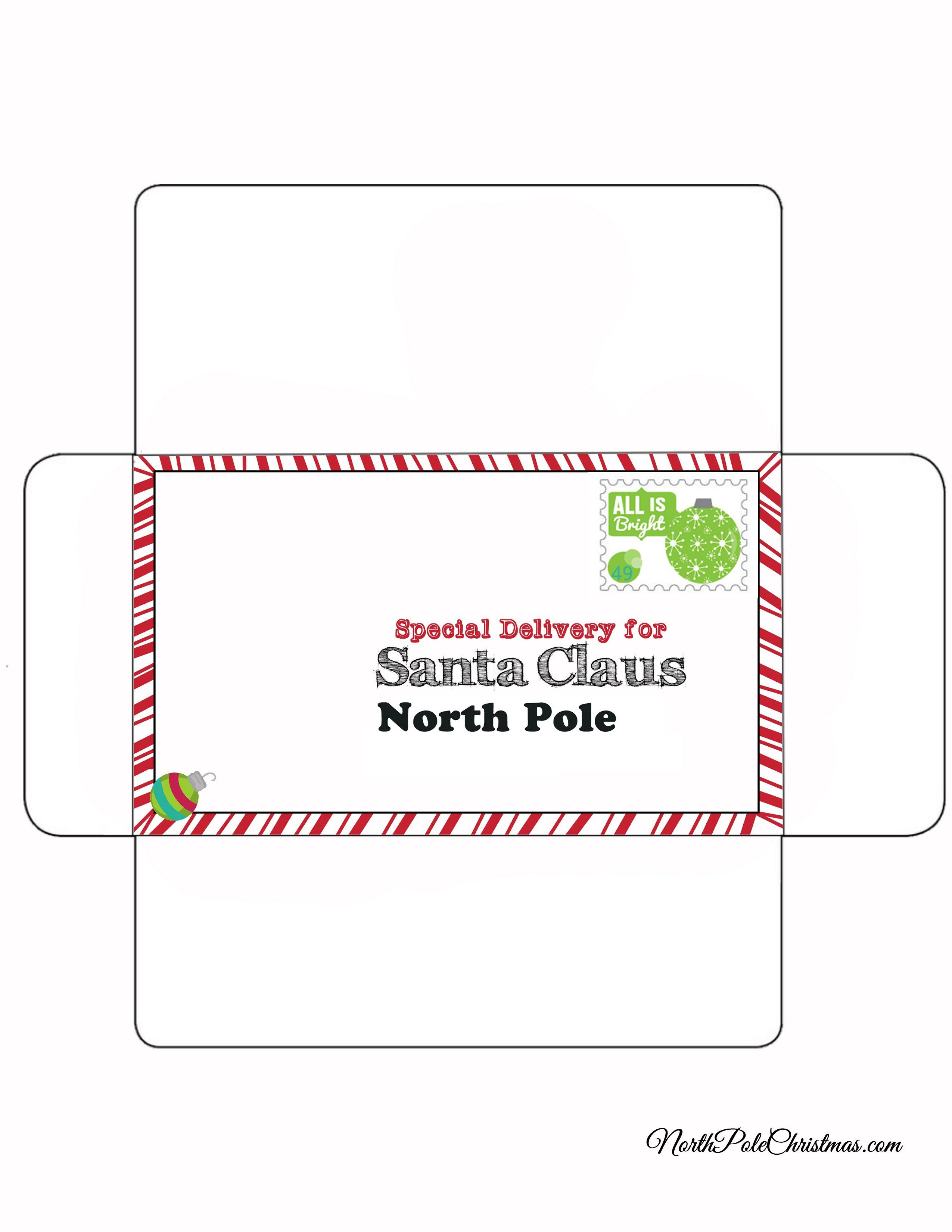 Free envelope to go with your child\'s letter to Santa | free ...