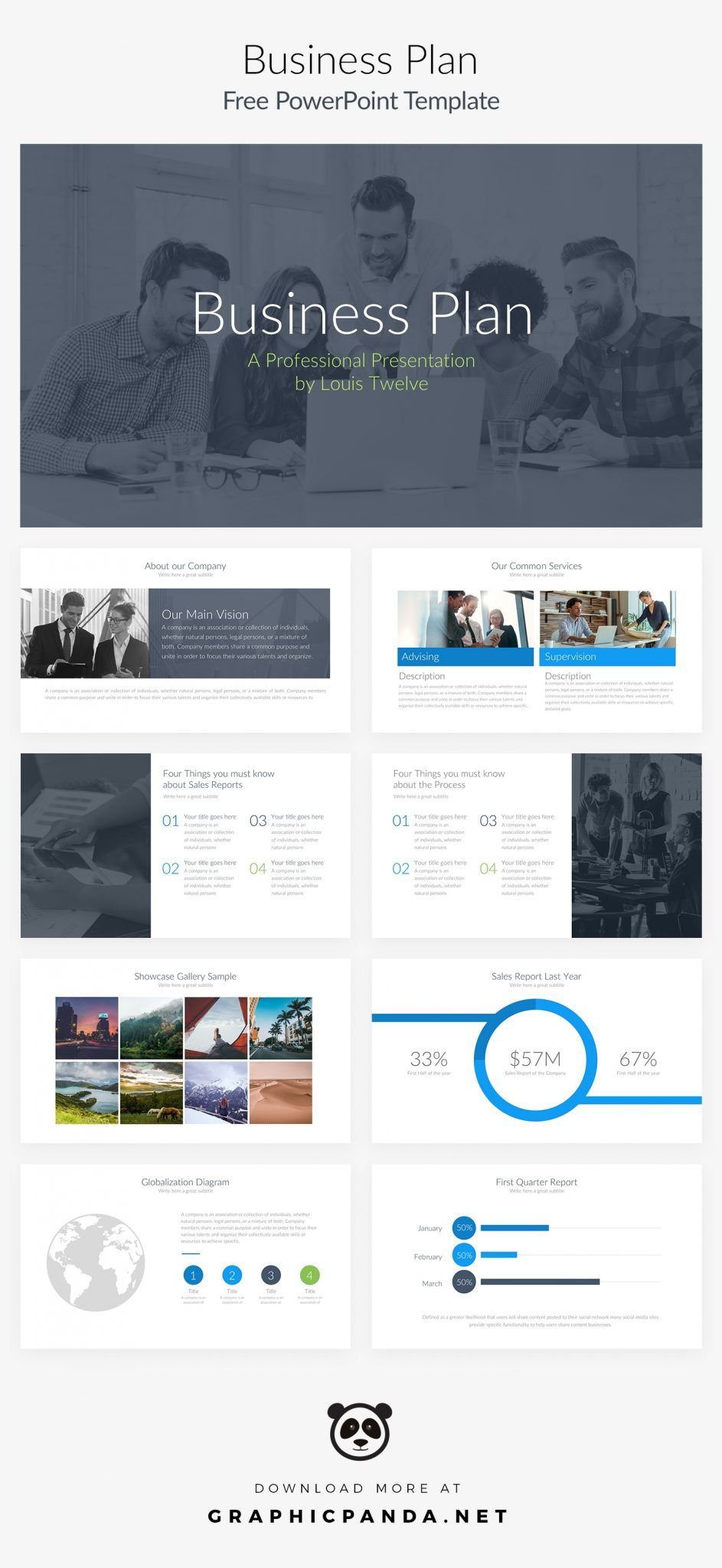 Business Plan Powerpoint Template 10 Free Slides For Business