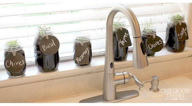 Exceptional DIY Mason Jar Herb Garden · One Good Thing By Jillee