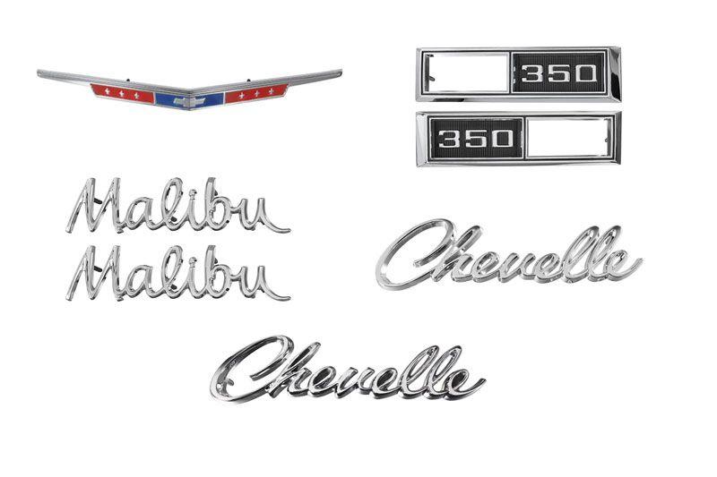 Emblem Kit 68 Chevelle 350 Camaro Parts Chevelle Parts El Camino