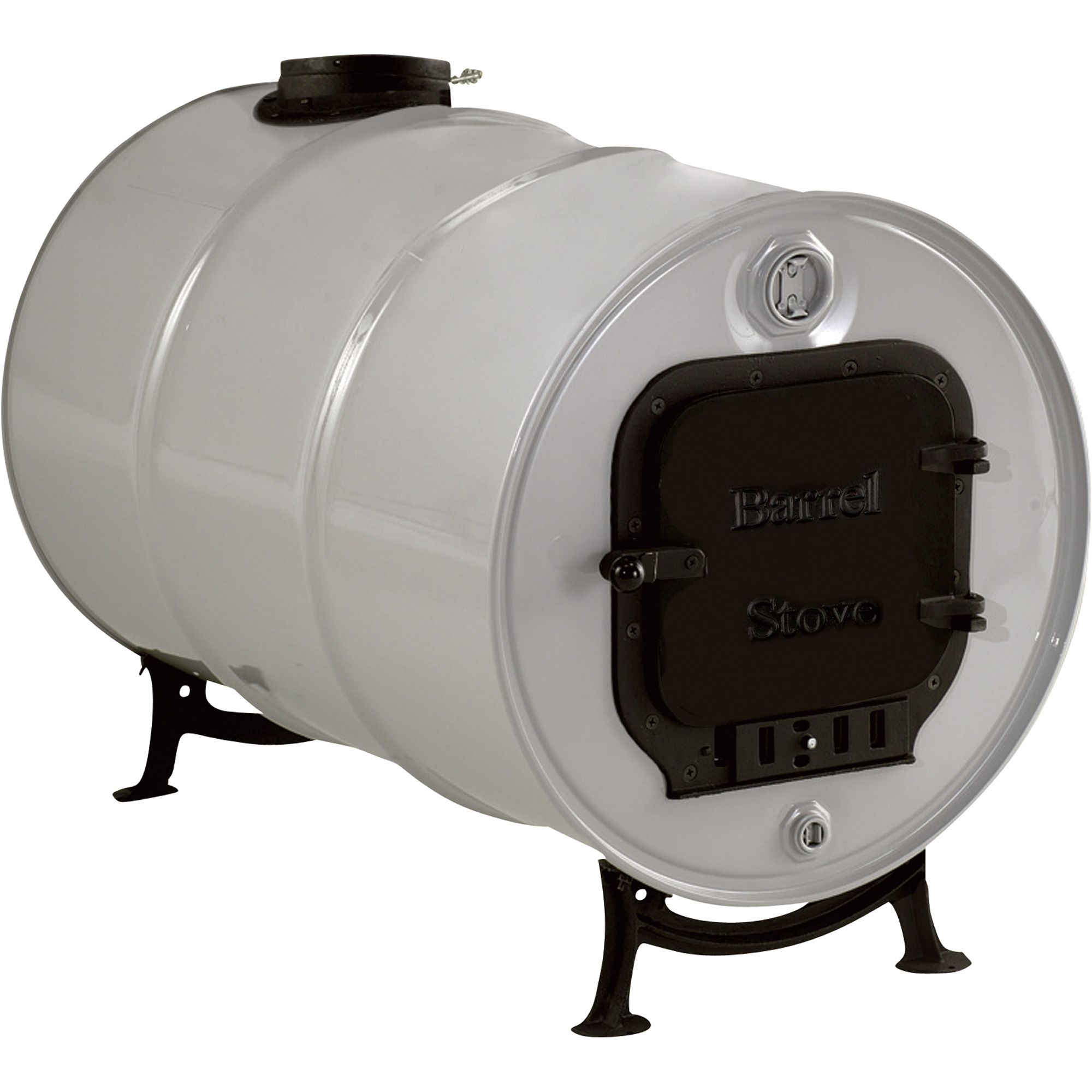 100 cast iron kit converts any 55 or 30 gallon drum into an