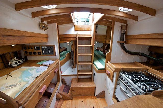 Pilot Cutter Edith Gray Boats Sailboat Interior Boat Interior Boat Building