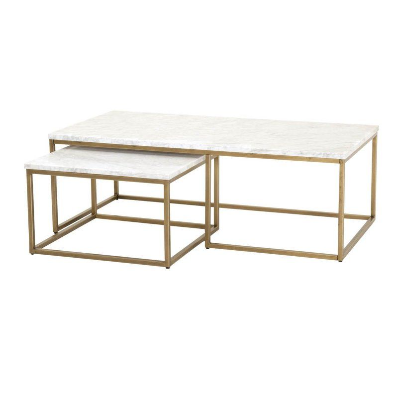 Brookby Place 2 Piece Coffee Table Set Nesting Coffee Tables