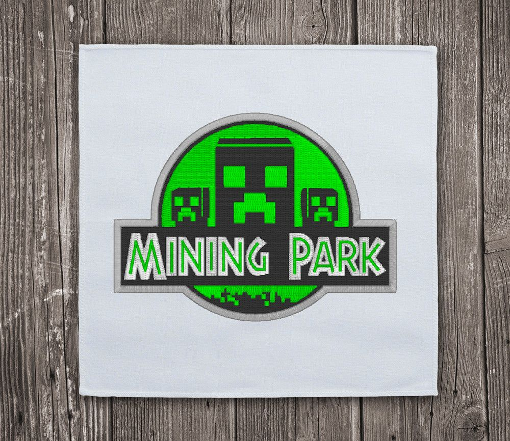 Mining Park Minecraft- Embroidery Design Instant Download