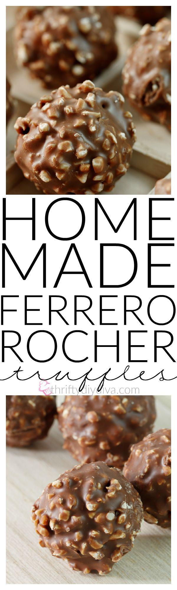 Homemade Ferrero Rocher Hazelnut Truffles | Recipe | Homemade ...