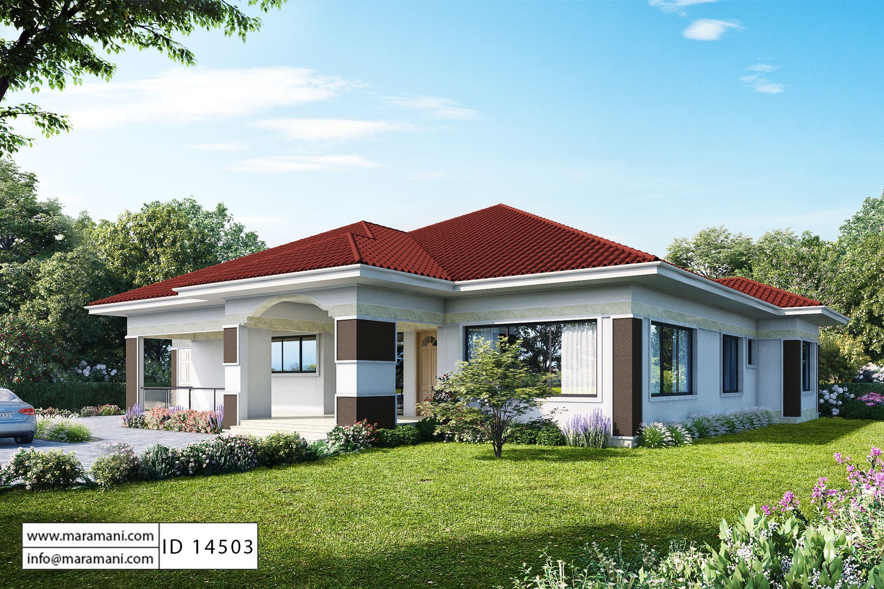 4 Bedroom House Plan Id 14503 House Roof Design Modern Bungalow House Bedroom House Plans
