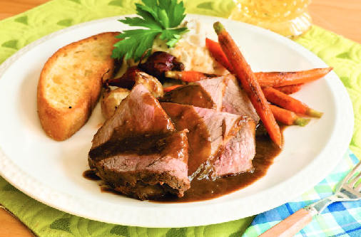 This Pot Roast with Gingersnap Gravy looks like it came straight out of a gourmet restaurant. Now easy to make in your slow cooker at home! Check out the recipe in Fix-It and Forget-It Pink Cookbook. Via Open Road.