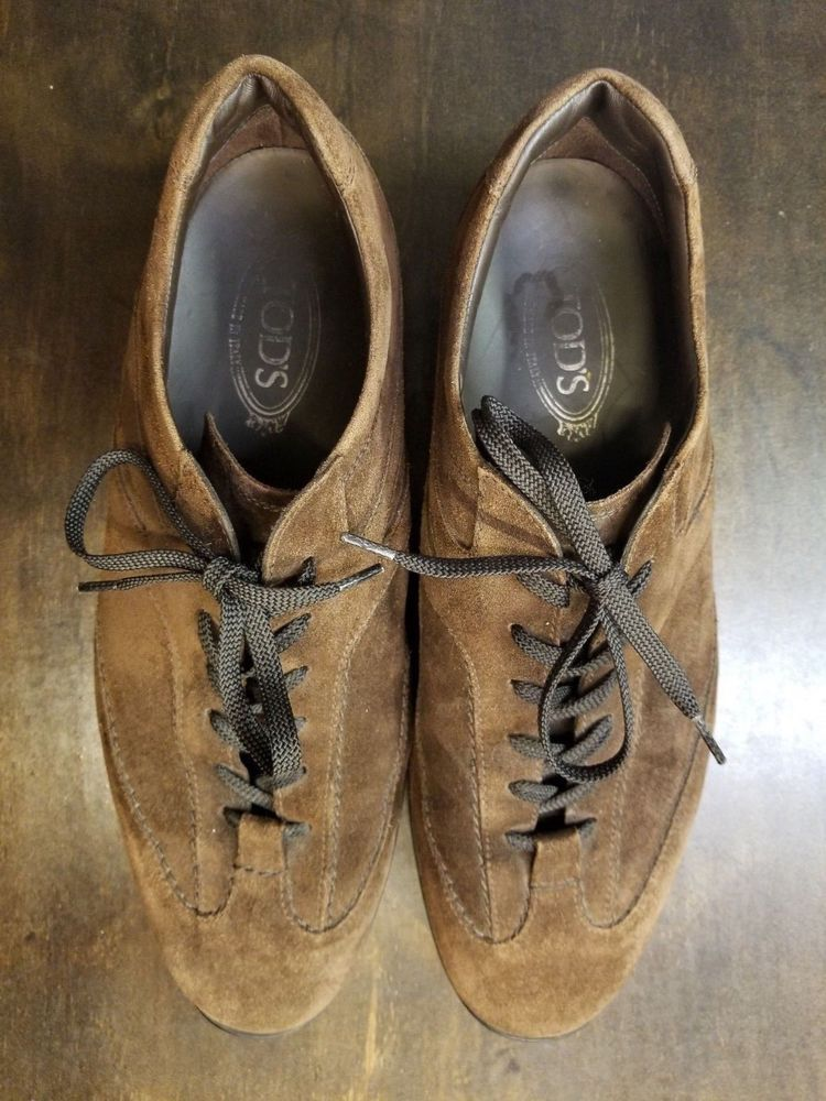 Men's TODS Brown Suede Walking Shoes Sneakers Size 11 5