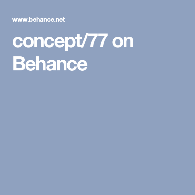 concept/77 on Behance
