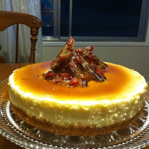 Whiskey maple bacon cheesecake cream cheesecake accented with maple cake forumfinder Images