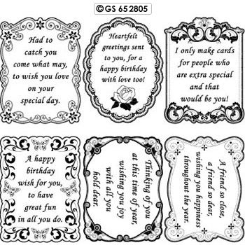 Sentiments Verses 05 Birthday Peel Off Scrapbook Stickers