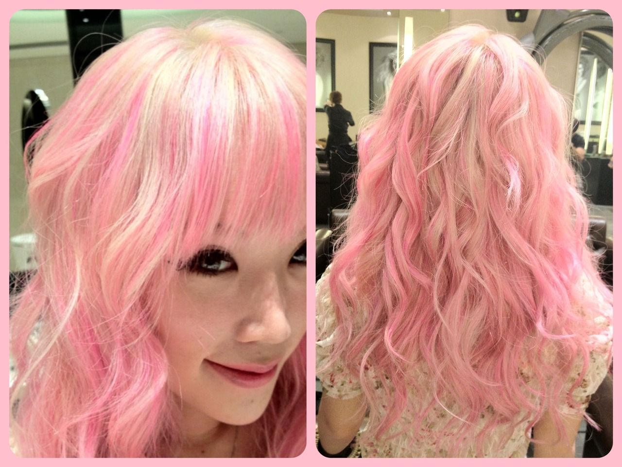 Baby pink streak hair with blonde. | Hair I Love | Pinterest | Pink ...