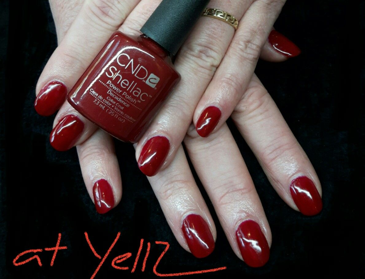 Cnd Shellac - Decadence Over Cnd Acryl   Nails   Cnd ...