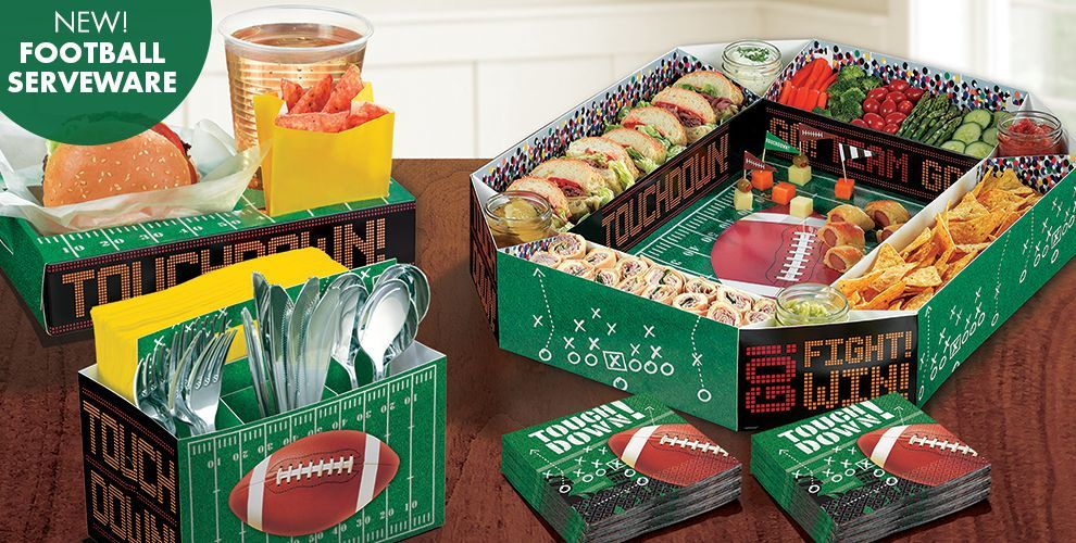NFL Drive Party Supplies Party City Football Snacks Pinterest Delectable Party City Super Bowl Decorations