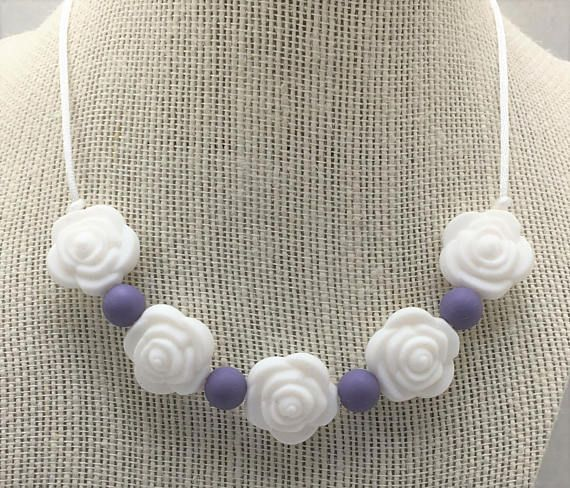 Chew Necklace / Sensory Necklace / Silicone Teething Necklace / Autism / Sensory Processing Disorder / Chewie / Chewlery / Flower / Toddler