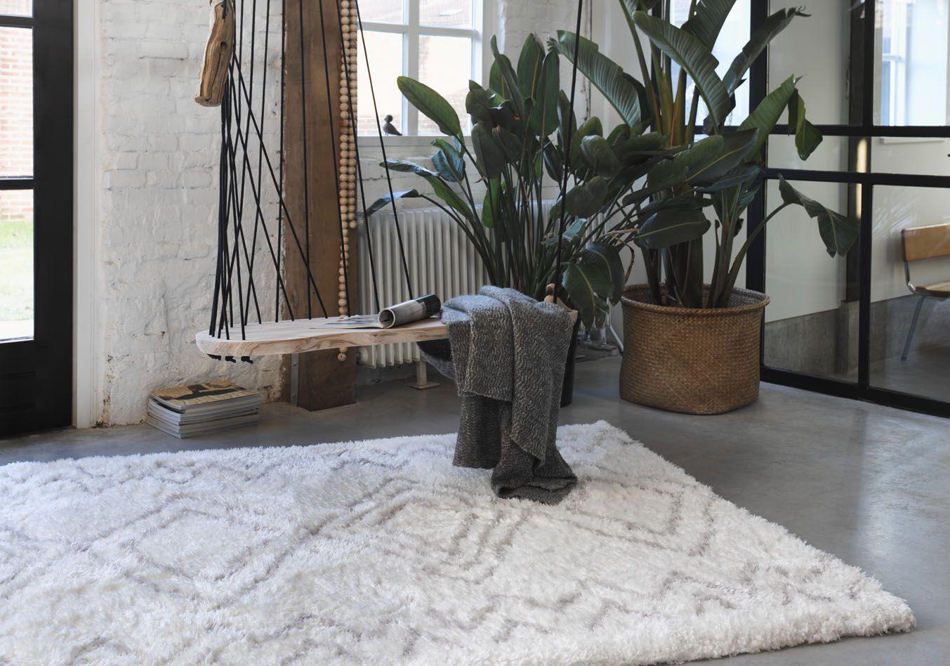 Die Qualitat Boho Scandic Von Wecon Home Ist In Sechs Verschiedenen Grossen Und Modernen Stilsicheren Farben Erhal Hochflor Teppich Teppich Wohnzimmer Teppich