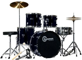 SR Series Black Drum Set for Sale with Cymbals Hardware and Stool     SR Series Black Drum Set for Sale with Cymbals Hardware and Stool New  Gammon 5
